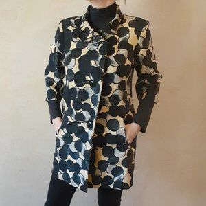 TRACY REESE Luxe Retro Dot Silk Blend Jacket /Coat